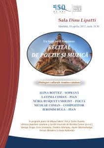 Afis recital catalanistica 18.04.2015